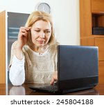 serious mature woman  with... | Shutterstock . vector #245804188