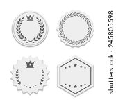 vector white paper labels with... | Shutterstock . vector #245805598