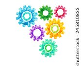 creative concept of the gears ... | Shutterstock . vector #245810833