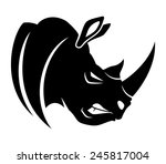 Vector Sign. Rhinoceros.