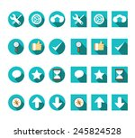 flat internet icons vector set