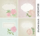 different colors set of vintage ... | Shutterstock . vector #245834938