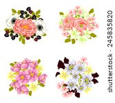 flower set | Shutterstock .eps vector #245835820