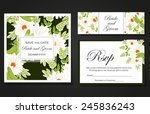 set of invitations with floral... | Shutterstock .eps vector #245836243