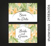 set of invitations with floral...   Shutterstock .eps vector #245836306