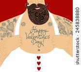 funny cartoon illustration of...   Shutterstock .eps vector #245838880
