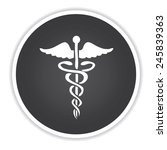 medical design on black button...   Shutterstock .eps vector #245839363