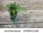rosemary on a wooden background | Shutterstock . vector #245841160