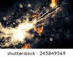 explosion abstraction | Shutterstock . vector #245849569