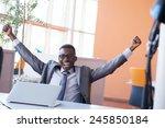happy smiling successful... | Shutterstock . vector #245850184