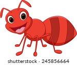 happy ant cartoon  | Shutterstock .eps vector #245856664
