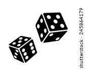 two black dice cubes on white... | Shutterstock .eps vector #245864179