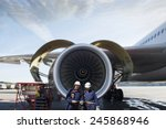airplane mechanics and giant... | Shutterstock . vector #245868946