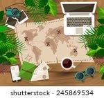 desktop traveler | Shutterstock .eps vector #245869534