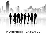 silhouettes of business people... | Shutterstock .eps vector #24587632