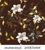 plants seamless pattern... | Shutterstock .eps vector #245876404