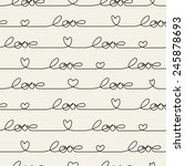 hearts seamless pattern   Shutterstock .eps vector #245878693