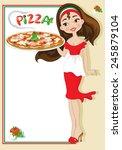 pizza menu | Shutterstock .eps vector #245879104