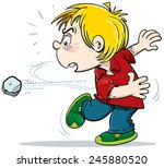 Child Throws A Stone