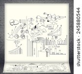 business sketches on white... | Shutterstock . vector #245880544