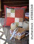 Handmade Colorful Quilt Cushio...