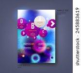 modern vector template for... | Shutterstock .eps vector #245883619