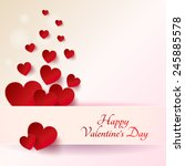 happy valentines day. 14... | Shutterstock .eps vector #245885578
