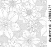 floral seamless pattern.... | Shutterstock .eps vector #245888179