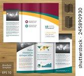 classic white brochure template ... | Shutterstock .eps vector #245890930