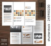 white brochure template design... | Shutterstock .eps vector #245900230