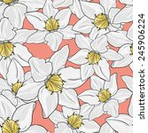 seamless pattern with orchid... | Shutterstock .eps vector #245906224