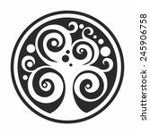 abstract symbol of tree. vector ... | Shutterstock .eps vector #245906758