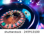 high contrast image of casino... | Shutterstock . vector #245913100