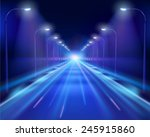 road in the night. vector...
