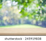 empty wooden deck table with... | Shutterstock . vector #245919838