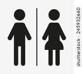 toilet people icon great for... | Shutterstock .eps vector #245932660