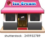 ice  cream shop isolated on... | Shutterstock .eps vector #245932789