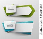 origami vector banners set  | Shutterstock .eps vector #245938408
