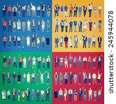 jobs people diversity work... | Shutterstock . vector #245944078