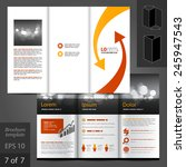white brochure template design... | Shutterstock .eps vector #245947543