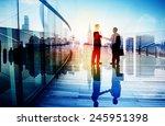 business people hand shake... | Shutterstock . vector #245951398
