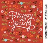 Spring Card   Lettering Happy...