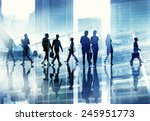 silhouette business people... | Shutterstock . vector #245951773