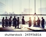 business people connection... | Shutterstock . vector #245956816
