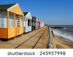 southwold beach huts on the...