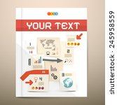 brochure cover design  ... | Shutterstock .eps vector #245958559