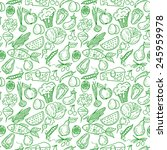healthy diet seamless pattern.... | Shutterstock .eps vector #245959978