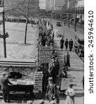 Breadline Along Bryant Park In...