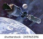 Painting Of Apollo Soyuz Test...