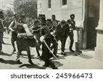The arrest of Gavrilo Prinzep, assassin of Austrian Archduke Franz Ferdinand, the heir to the throne of Austria-Hungary, on June 28, 1914 at Sarajevo. KW: Bosnia-Herzegovina